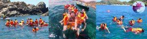 Khách lặn ngắm san hô ở Hòn Khô